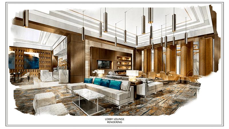 Lobby Lounge Rendering